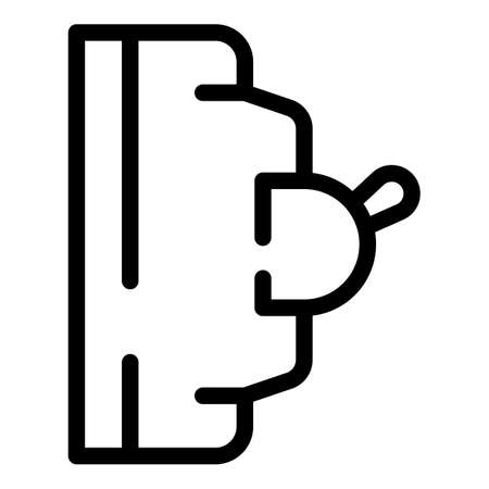 Energy switch icon, outline style