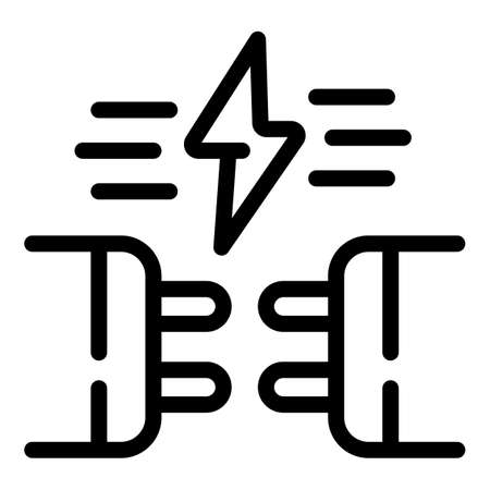 Energy connection icon, outline style