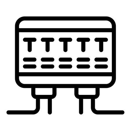 Circuit breaker panel icon, outline style Vector Illustratie