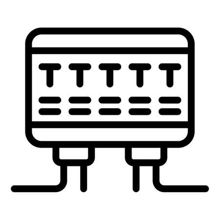 Circuit breaker panel icon, outline style