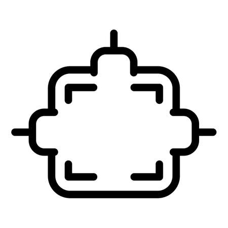 Cable junction box icon, outline style