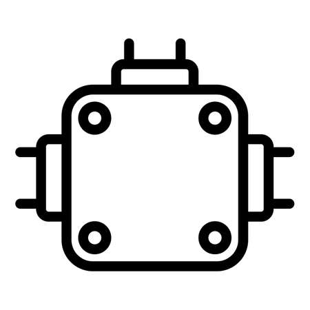 Tool junction box icon, outline style