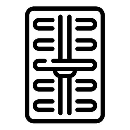 Energy intensity icon, outline style