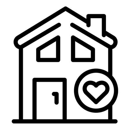 New rent house icon, outline style