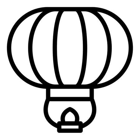Sky lantern icon, outline style
