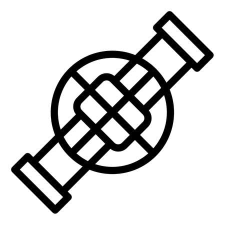 Factory sewage icon, outline style