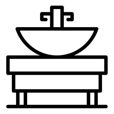 Bath sink system icon, outline style