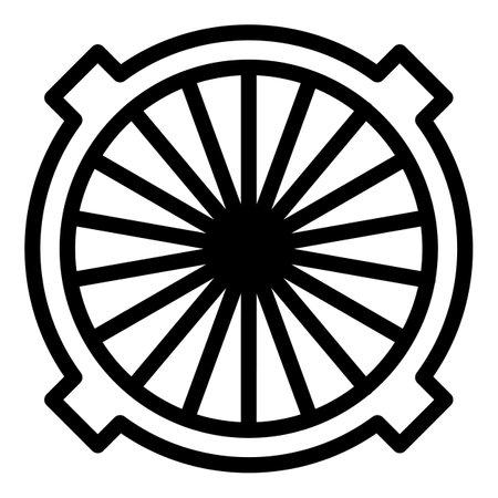 Hole manhole icon, outline style