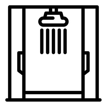 Shower stall interior icon, outline style