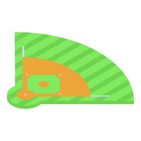 Baseball field icon, isometric style