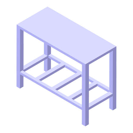 Dough metal table icon, isometric style