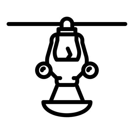 Help rescue helicopter icon, outline style
