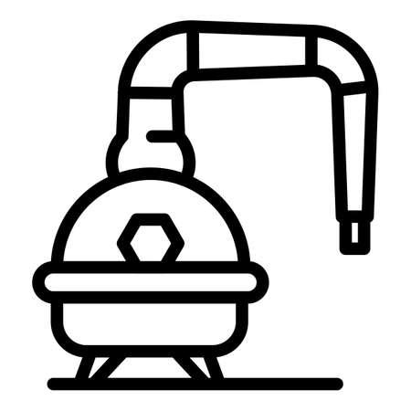 Bourbon equipment icon, outline style