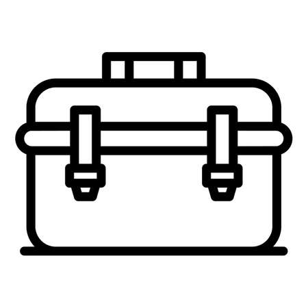 Builder tool box icon, outline style