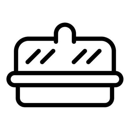Milk butter icon, outline style