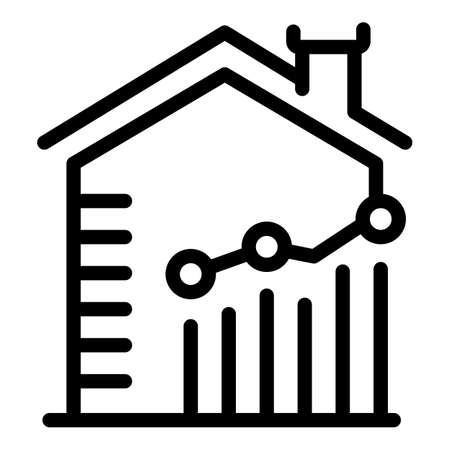 Leasing house property investments icon, outline style Vector Illustratie