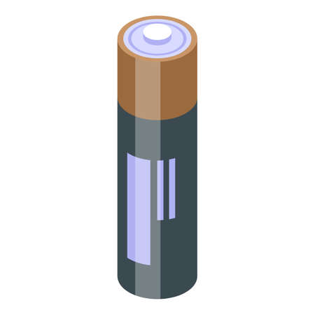 Battery icon, isometric style