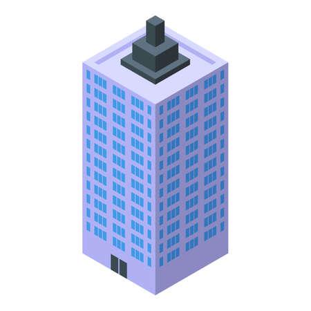 Urban cityscape icon, isometric style