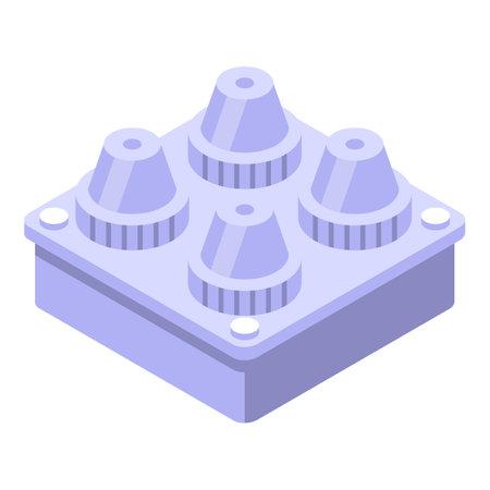 Zero plastic material icon, isometric style Vektorgrafik