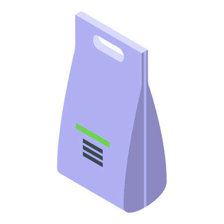 Biodegradable plastic pack icon, isometric style