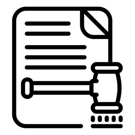 Law document icon, outline style