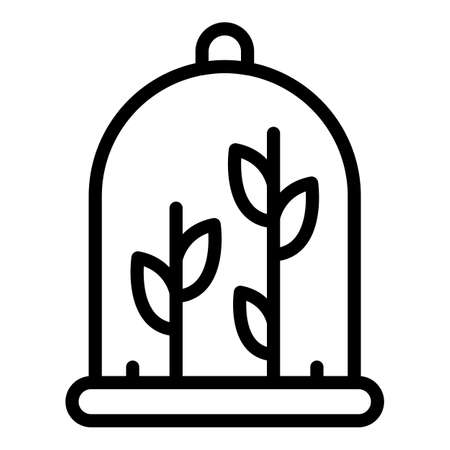 Laboratory plant icon, outline style