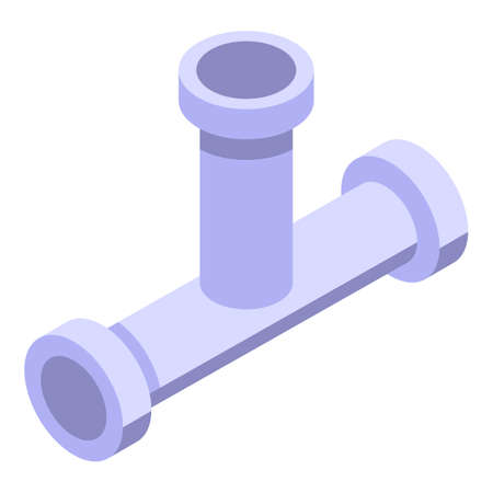 Sewer kitchen pipe icon, isometric style