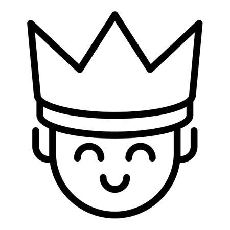 King icon, outline style