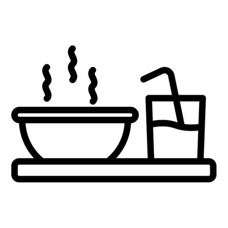 Breakfast icon, outline style