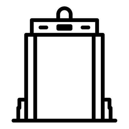 Gate scanner icon, outline style
