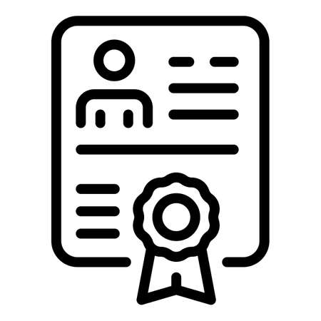 Diploma icon, outline style