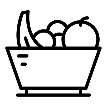 Fruit salad icon, outline style