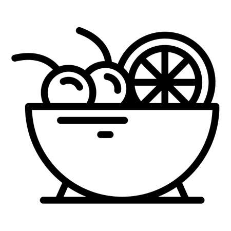 Meal fruit salad icon, outline style