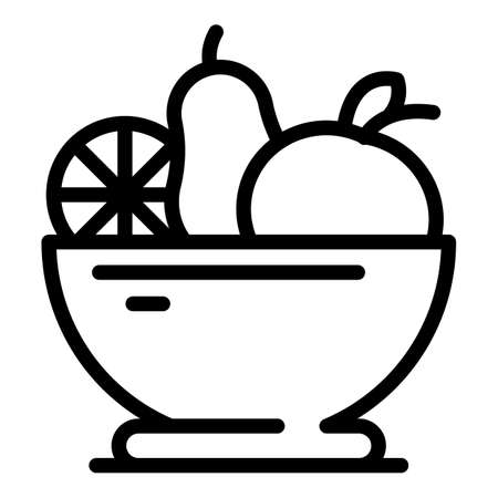 Diet fruit salad icon, outline style