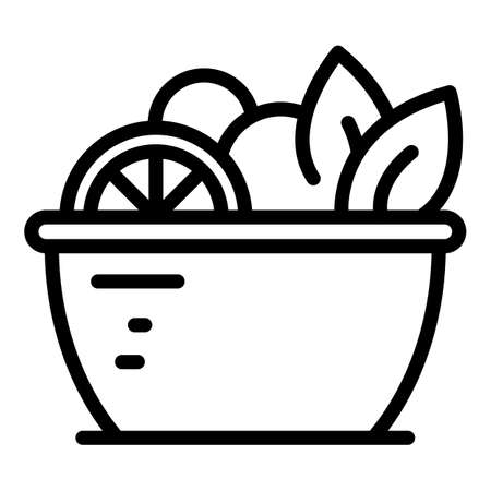 Berry fruit salad icon, outline style