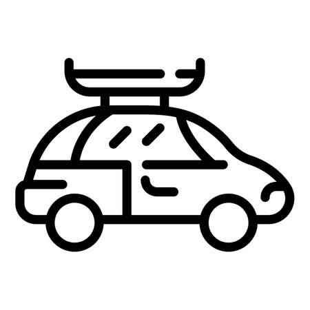 Car roof container icon, outline style