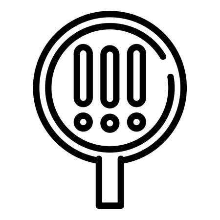 Attention magnifier icon, outline style