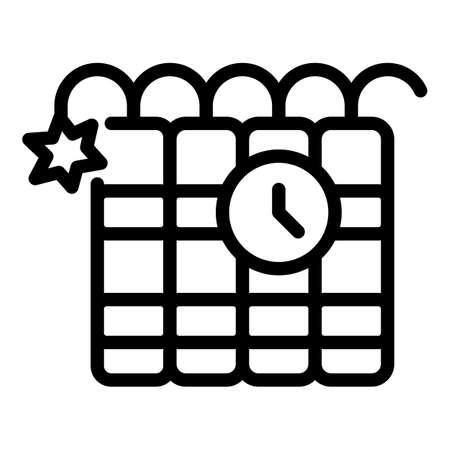 Dynamite icon, outline style Vektoros illusztráció