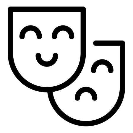 Human senses icon, outline style