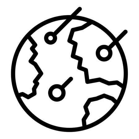 Apocalypse asteroid icon, outline style