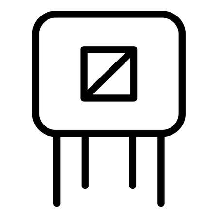 Energy capacitor icon, outline style
