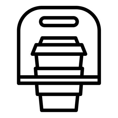 Coffee take away icon, outline style
