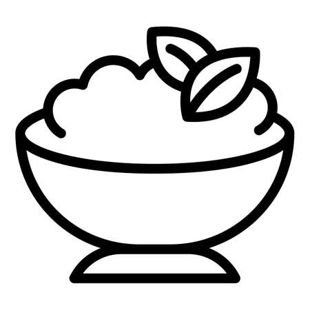 Mashed potatoes food icon, outline style