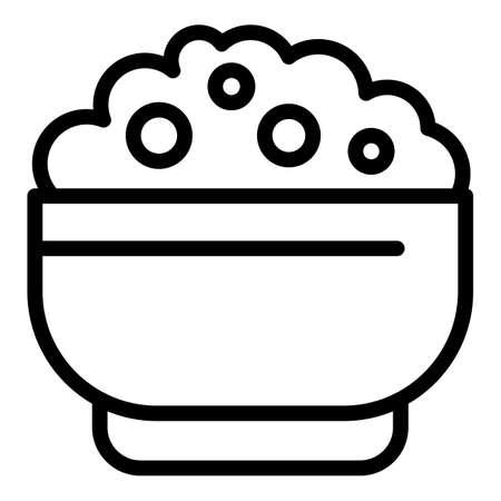 Tasty mashed potatoes icon, outline style