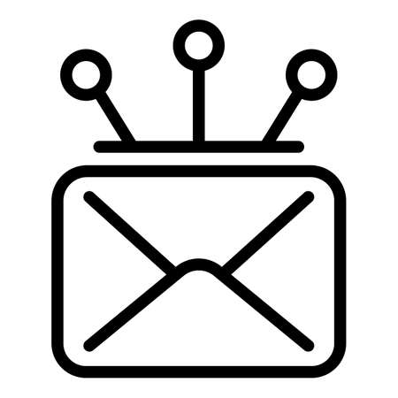 Campaign envelope icon, outline style