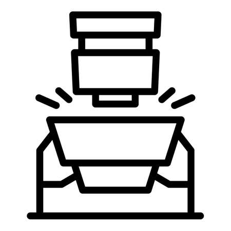 Paper production icon, outline style