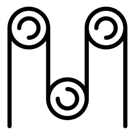 Paper and pulp icon, outline style