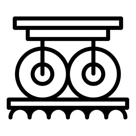 Paper roller icon, outline style