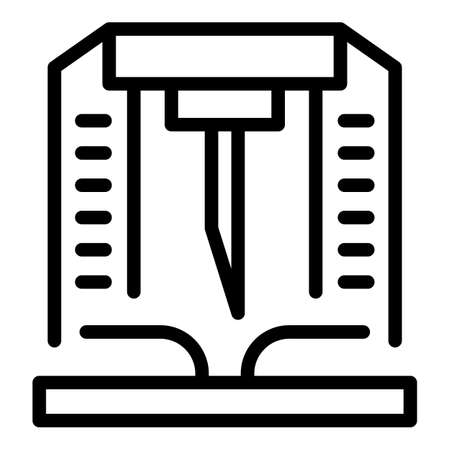 Paper production industry icon, outline style
