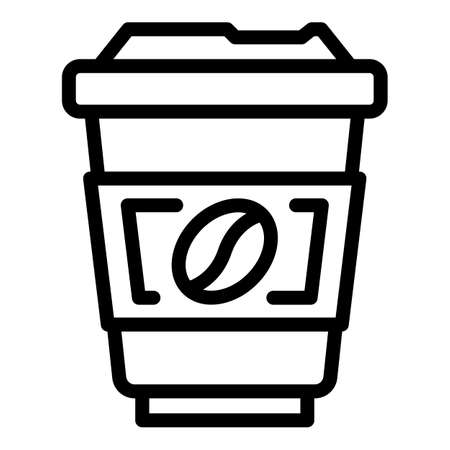 Americano coffee icon, outline style